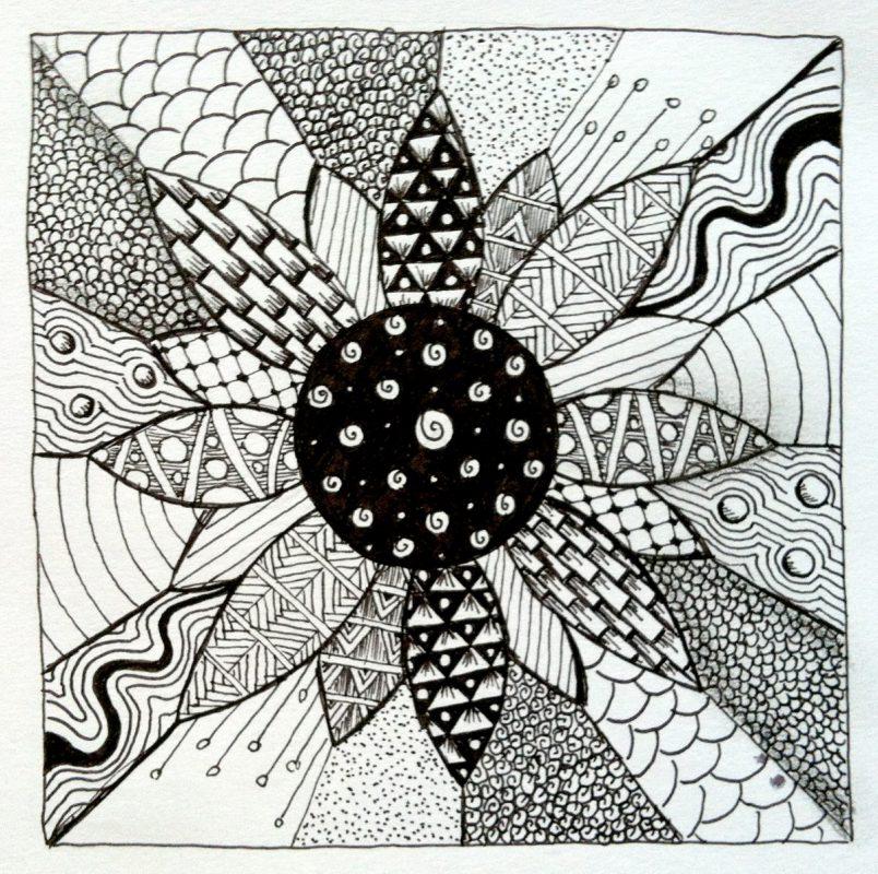 Meditatives Malen Und Zeichnen Zentangle Zendoodle Mandalas In