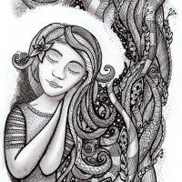 zentangled_hair_girl