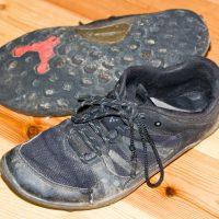 Meine ersten Barfußschuhe von Vivobarefoot - Modell Trail glaube ich