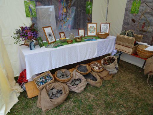 Unser Messestand mit reichlich schönen Materialien für das Mandala